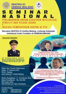 Seminar Nasional Sentra Kekayaan Intelektual (KI) Unidha Malang Th. 2018