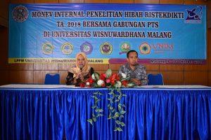 MONEV INTERNAL PENELITIAN HIBAH RISTEKDIKTI TA 2018 BERSAMA GABUNGAN PTS