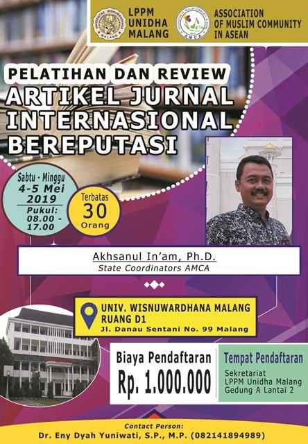 PELATIHAN DAN REVIEW ARTIKEL JURNAL INTERNASIONAL BEREPUTASI